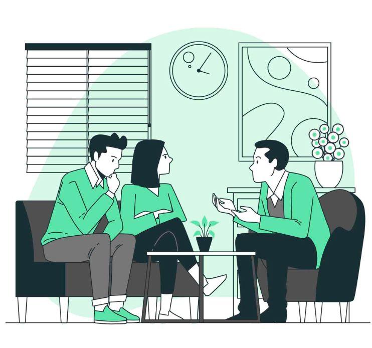 جلسات زوج درمانی را ادامه دهید